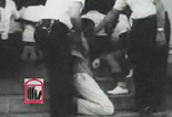 WSB-TV newsfilm clip of African American student protesters singing as they are arrested by police at the Albany Carnegie Library in Albany, Georgia, August 2, 1962