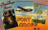 Composite view of three images from Fort Bragg, N.C. The image labeled