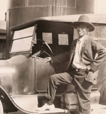 Unknown Indian man with car, 1916-1920, Winslow, Arizona