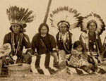 Jicarilla Apaches at the Indian Congress. Photo taken by F. A. Rinehart, 1898. TMI number 00911