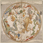 Phillipe La Hire's Planisphere Celeste Meridional