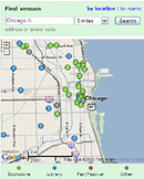 LibraryThing Local map for Chicago