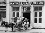 Americus, ca. 1945. Furniture being moved out of Mather of Americus, Store Number 2. The driver of the wagon is Grantland G. Rowe. From the Georgia Archives in Morrow. Image: sum017