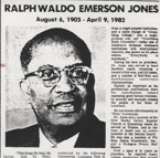 Ralph Waldo Emerson Jones was the second president of Grambling (La.) State University