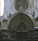 Catedral de Santa María de Tarragona, 1277-1375, view of West Portal. Arts.csls3443.bib