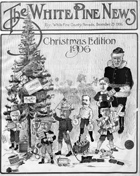 Cover of White Pine News, Christmas edition, 1906
