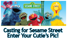 enter a pic for a chance to be on Sesame Street